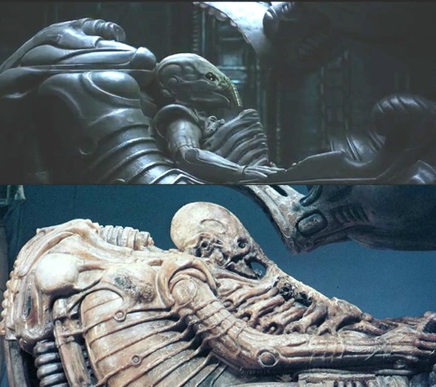 Prometheus review snark week for Prometheus xenomorph mural